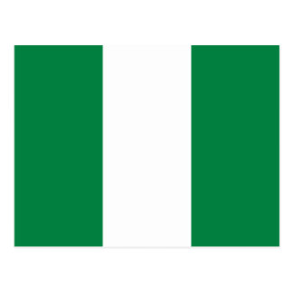 Nigeria-Flaggen-Postkarte Postkarte