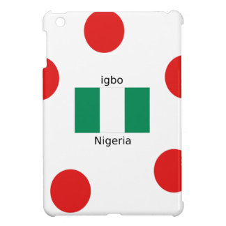 Nigeria Flaggen-und Igbo-Sprachentwurf iPad Mini Hülle