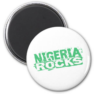 Nigeria-Magnet Runder Magnet 5,1 Cm