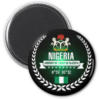 Nigeria Runder Magnet 5,7 Cm