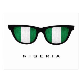 Nigeria schattiert kundenspezifischen Text u. Postkarte