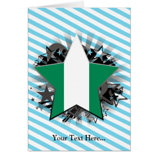 Nigeria-Stern Karte