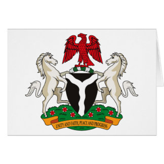 Nigeria-Wappen Gruß-Karte Karte