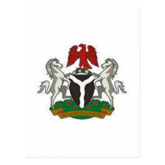 Nigeria-Wappen Postkarte