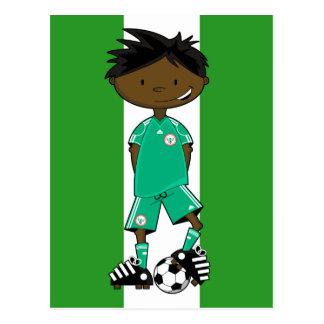 Nigeria-Weltmeisterschaft-Fußball-Junge Postkarte