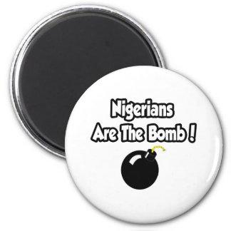 Nigerians sind die Bombe! Runder Magnet 5,1 Cm
