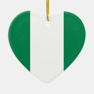 Nigerische Flagge Keramik Ornament