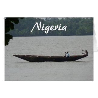 Nigerisches Boot Karte