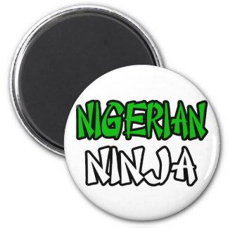 Nigerisches Ninja Runder Magnet 5,1 Cm