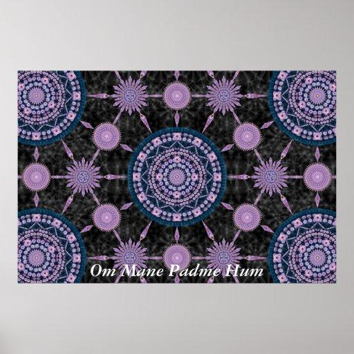 Nightblooming Kaktus-Mandala-Reihe Posterdrucke