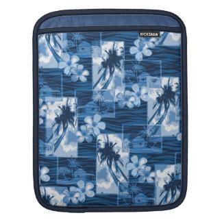 Niihau Inselhawaiischer Plumeria und Palme iPad Sleeve