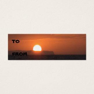 Ni'ihau Sonnenuntergang-Visitenkarte Mini-Visitenkarten