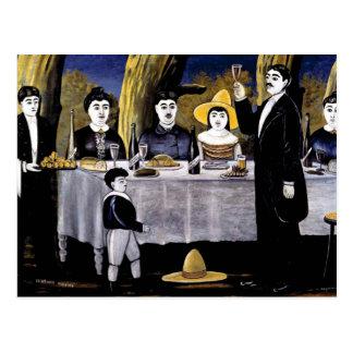Niko Pirosmani - Familien-Fest Postkarte