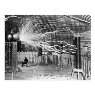Nikola Tesla, Colorado Springs, 1899 Postkarte