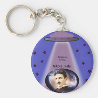 Nikola Tesla-Genie Schlüsselanhänger
