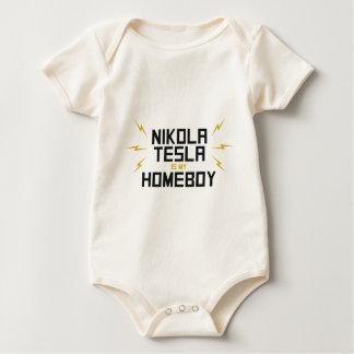 Nikola Tesla ist mein Homeboy Baby Strampler