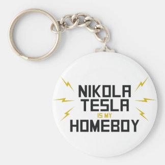 Nikola Tesla ist mein Homeboy Schlüsselanhänger
