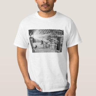 Nikola Tesla-Laborstrom-Bild T-Shirt