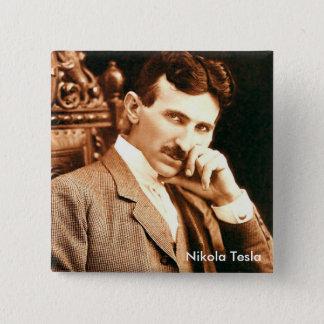 Nikola Tesla Quadratischer Button 5,1 Cm