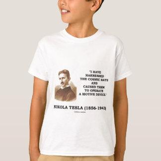 Nikola Tesla spannte Strahlungs-Motiv-Gerät vor T-Shirt