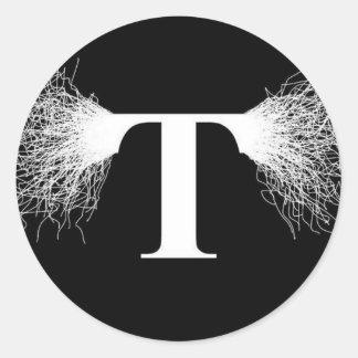 Nikola Tesla - Tesla Spule - Blitz Runder Aufkleber