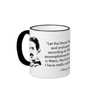 Nikola Tesla u. Zitat Ringer Tasse