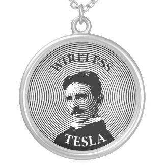 Nikola Tesla Versilberte Kette