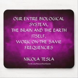 Nikola Tesla-Zitat - die gleichen Frequenzen Mousepad