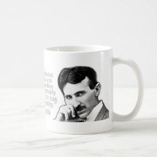 Nikola Tesla zitierte Klugheits-Kaffee-Tassen Kaffeetasse