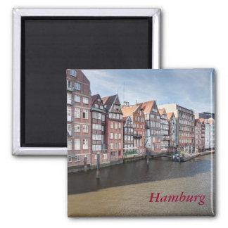 Nikolaifleet, Hamburg, Deutschland Quadratischer Magnet