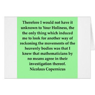 Nikolaus Kopernikus Zitat Karte
