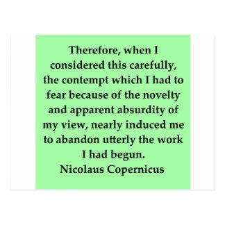 Nikolaus Kopernikus Zitat Postkarte