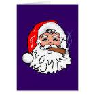 Nikolaus Weihnachtsmann Zigarre Santa Claus cigar Karte