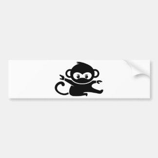 Ninja Affe Autoaufkleber