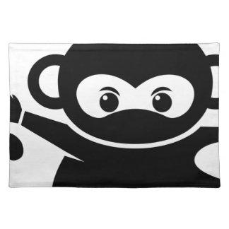 Ninja Affe Stofftischset