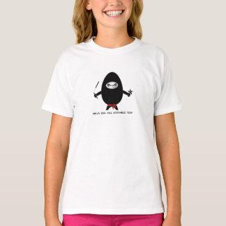 Ninja Ei kriecht Sie schrullige T T-Shirts