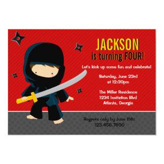 Ninja Geburtstags-Party 12,7 X 17,8 Cm Einladungskarte