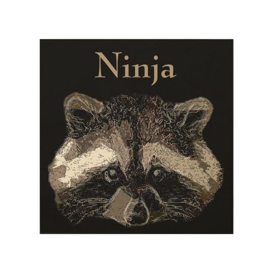 Ninja Holzleinwand