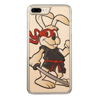 ninja Kaninchen-Cartoon Carved iPhone 8 Plus/7 Plus Hülle