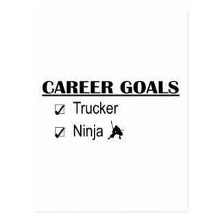 Ninja Karriere-Ziele - Fernlastfahrer Postkarte