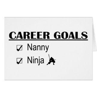 Ninja Karriere-Ziele - Kindermädchen Karte