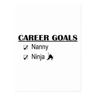 Ninja Karriere-Ziele - Kindermädchen Postkarte