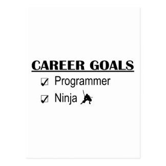Ninja Karriere-Ziele - Programmierer Postkarte