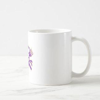 Ninja Koch gekreuzte Messer-Gabel-Ikone Kaffeetasse