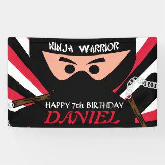 Ninja Kriegers-Geburtstag Banner