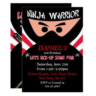 Ninja Kriegers-Geburtstags-Einladung Karte