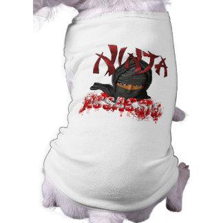 Ninja Meuchelmörder Ärmelfreies Hunde-Shirt