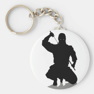 Ninja mit Klinge Standard Runder Schlüsselanhänger