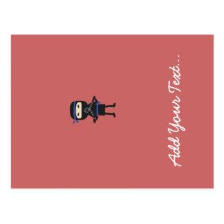 ninja mit Waffe Postkarte