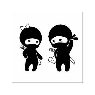 Ninja Paare, ein Junge und ein Mädchen Permastempel